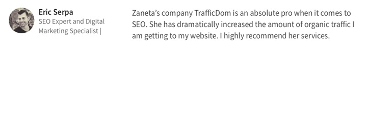 Testimonials-TrafficDom-Erik-Serpa-Search-Engine-Optimization-work