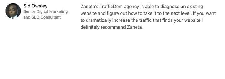 Testimonials-TrafficDom-Sid-Osly-Google-ranking.